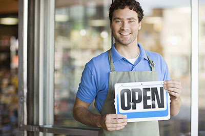 Business open sign for reopening your business after COVID19 - The Miller Insurance Agency Everett Washington
